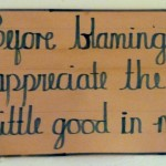 Signs like these are in all staff rooms and offices.