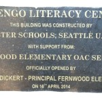 Plaque on Lutengo Literacy Center